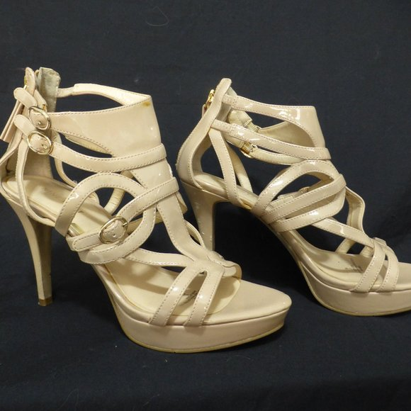NINE WEST size 8 m high heel shoes, imperfections